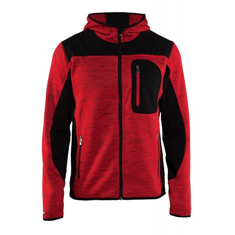 Veste tricotée à capuche Rouge Noir 4930 Blaklader - work wear aa0205f0d65f